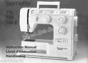 bernette 705 sewing machine manual
