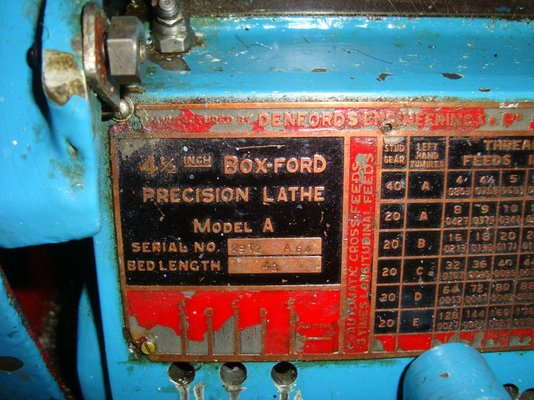 boxford model c lathe manual