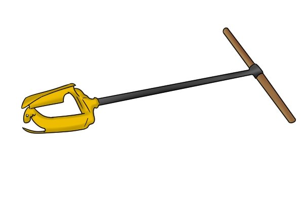 how to use a manual post hole auger
