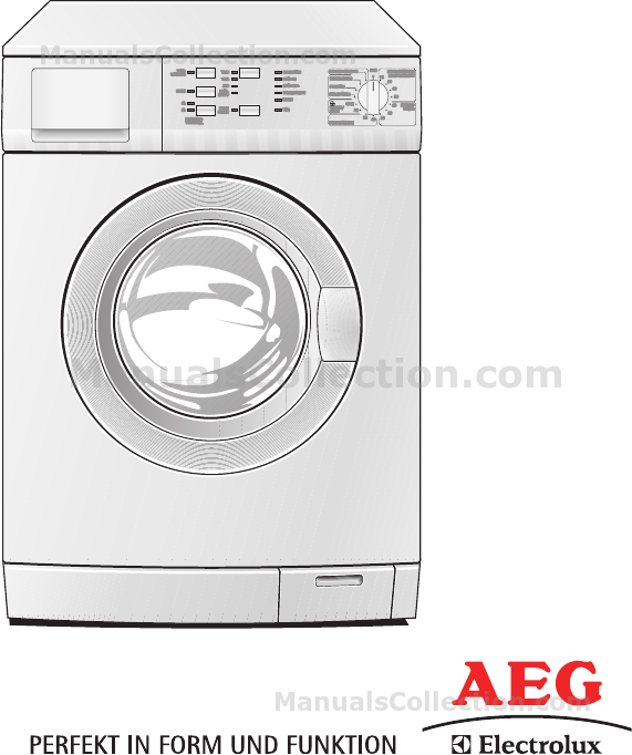 aeg electrolux washing machine manual