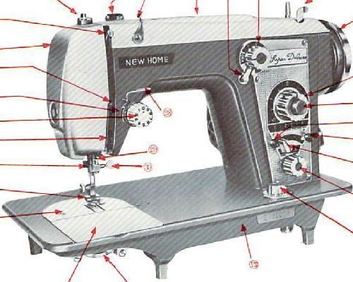 janome new home sewing machine manual