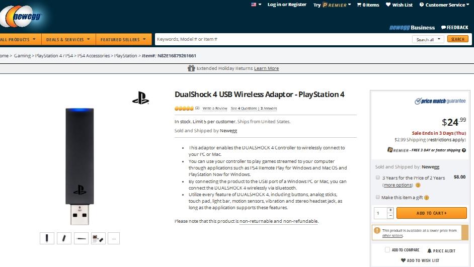dualshock 4 usb wireless adaptor manual