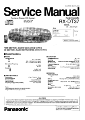 panasonic rx dt680 service manual