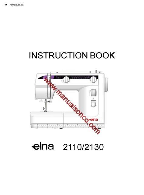 elna 2003 sewing machine manual