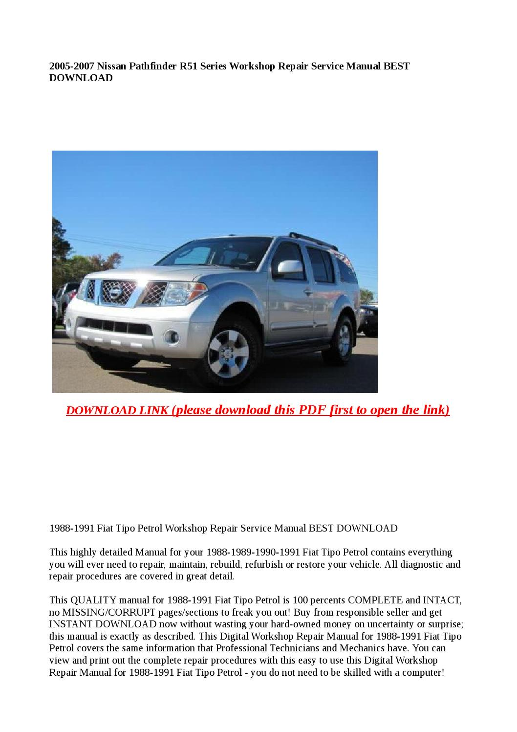 2005 nissan pathfinder repair manual