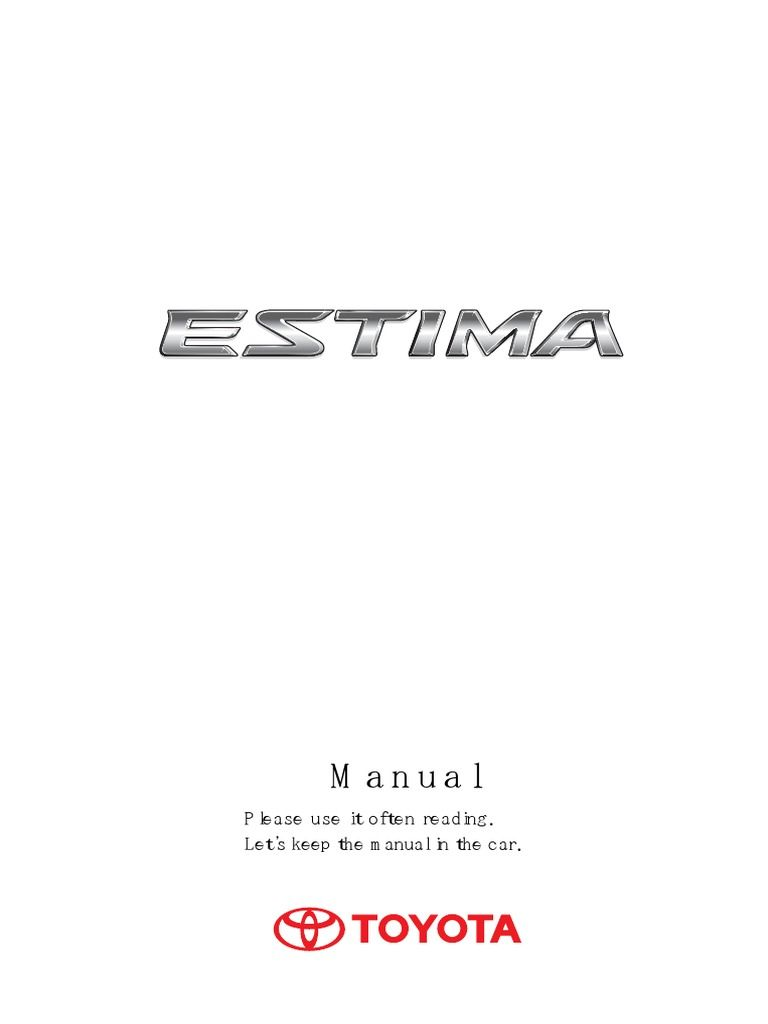 acr50 acr55 toyota estima manual guide book english