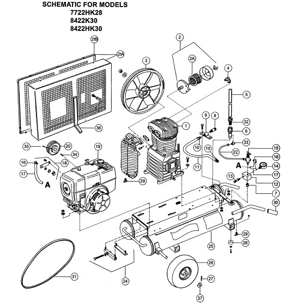 ingersoll rand t30 air compressor parts manual