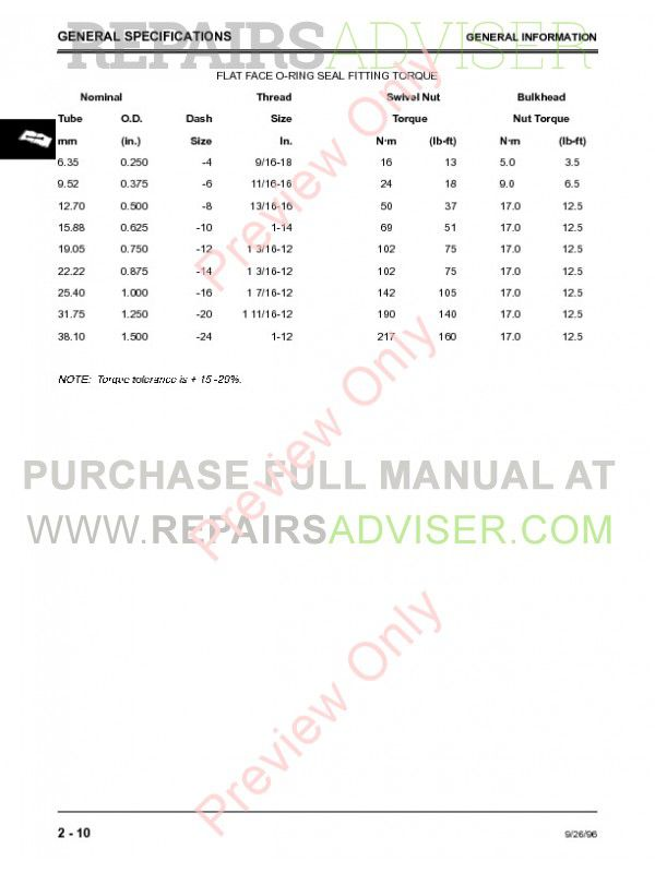 john deere 260 lawn tractor service manual