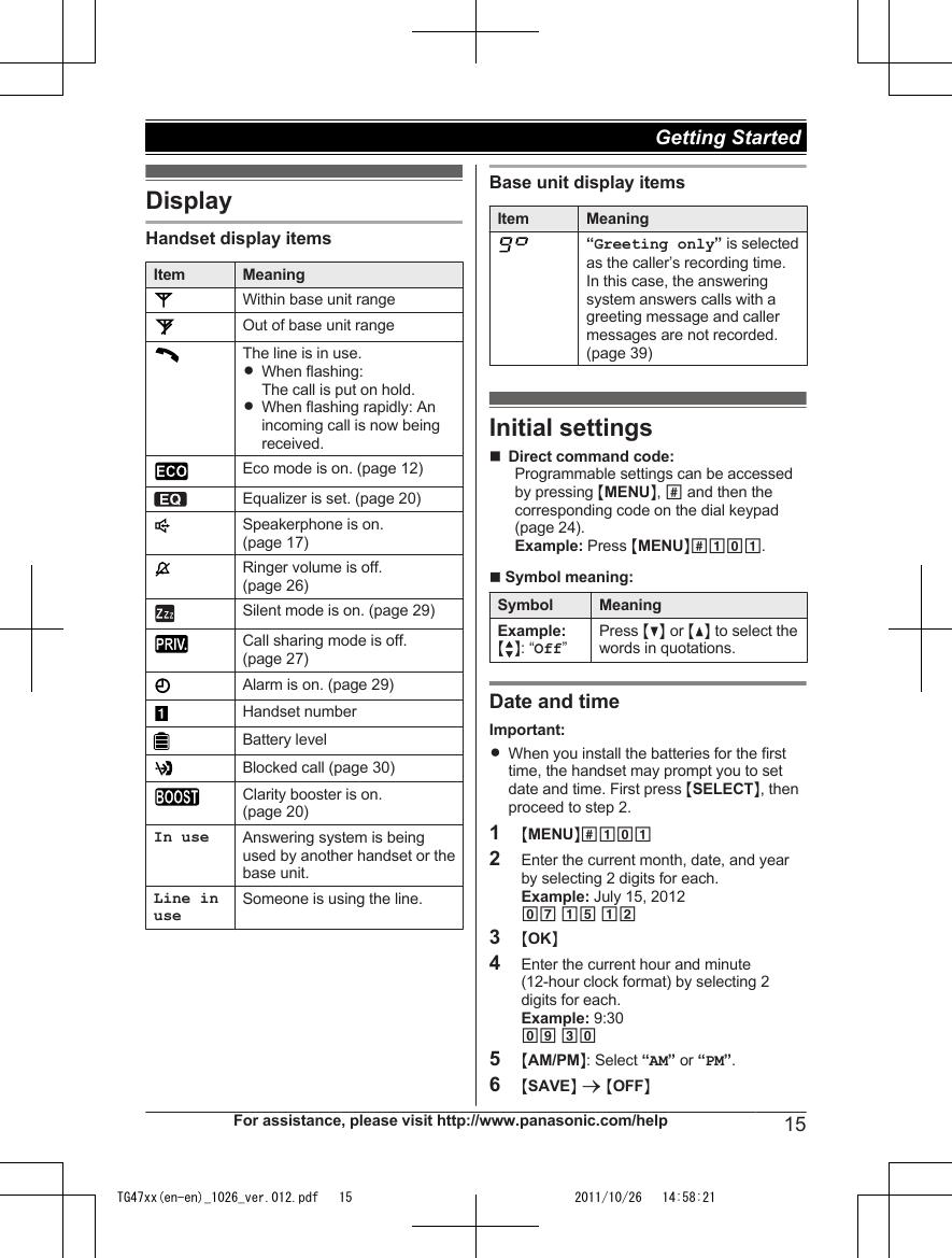 dect 6.0 panasonic manual