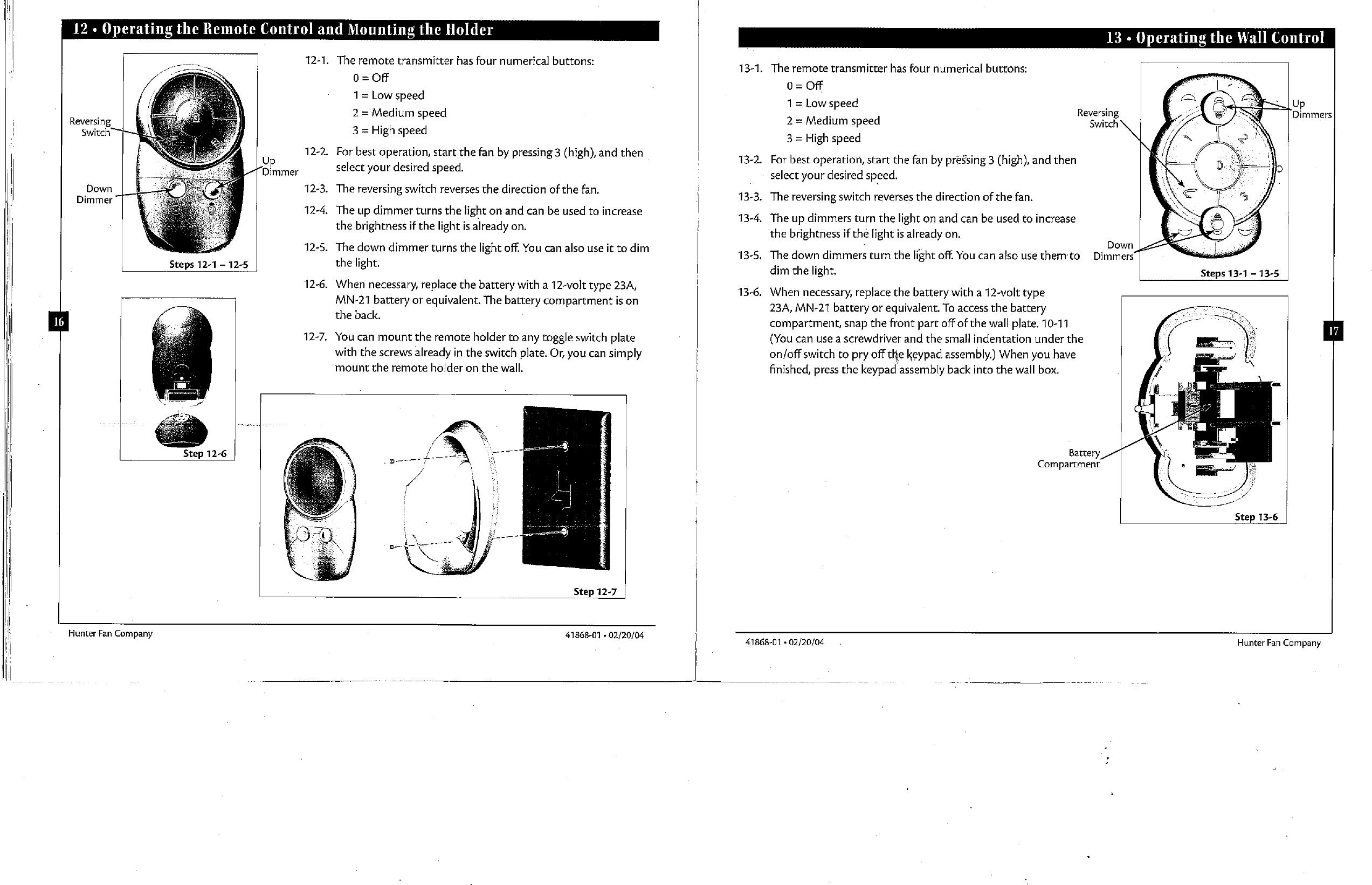 designer choice ceiling fan remote manual