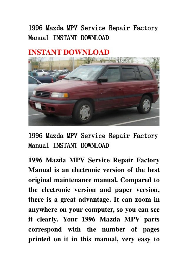 download mazda e2000 repair manual