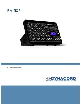 dynacord powermate 600 3 manual