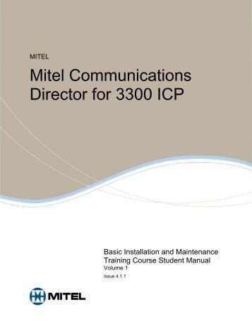 mitel 3300 icp administrator manual