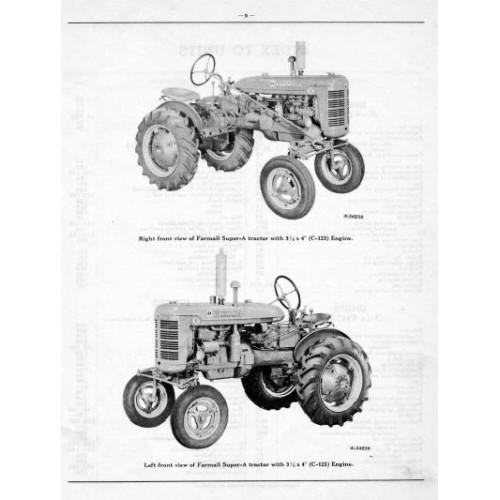 farmall super a parts manual