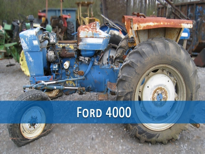 ford 4000 tractor parts manual