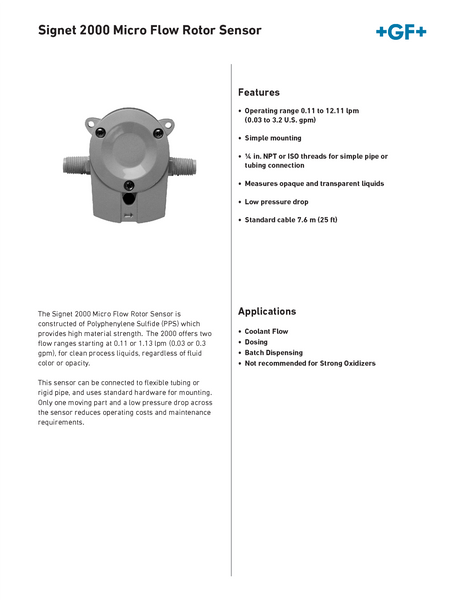 gf signet flow meter manual