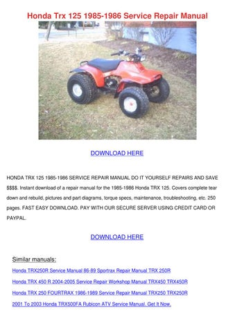 honda 250 fourtrax manual pdf