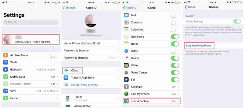 how to backup ipad to icloud manually