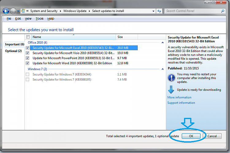 how to download updates for windows 7 manually