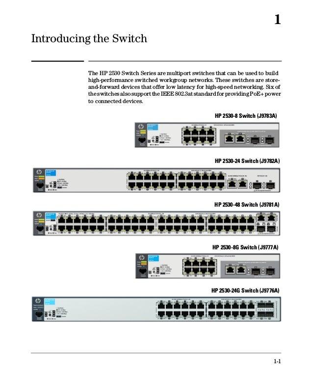 hp 2530 8g poe+ switch manual
