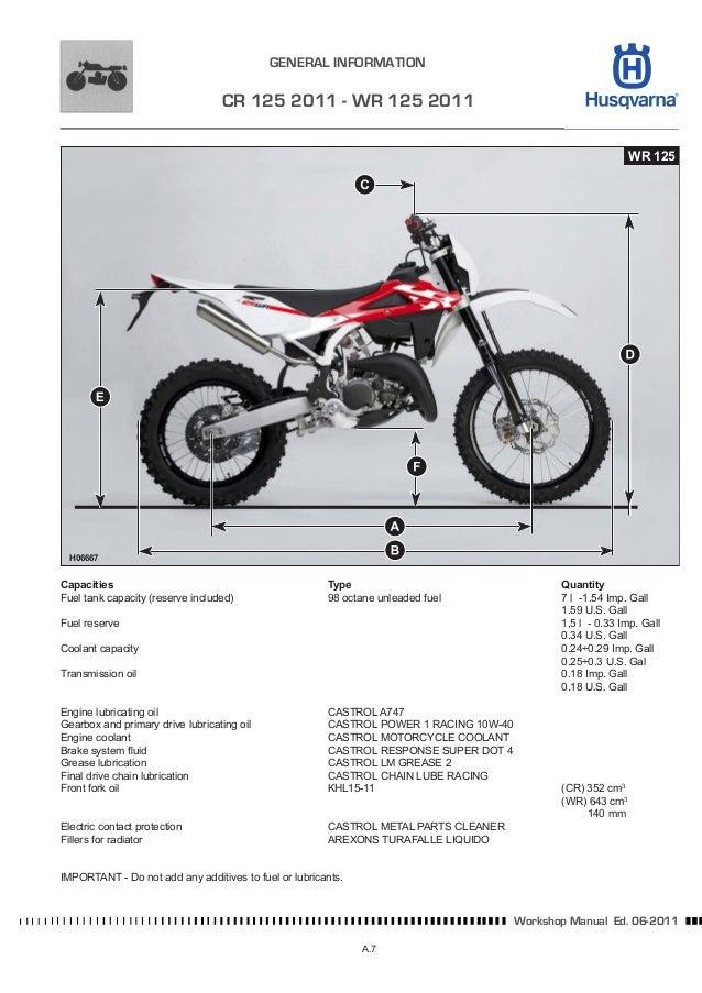 husqvarna wr 125 service manual