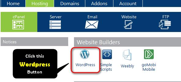 install wordpress on bluehost manually
