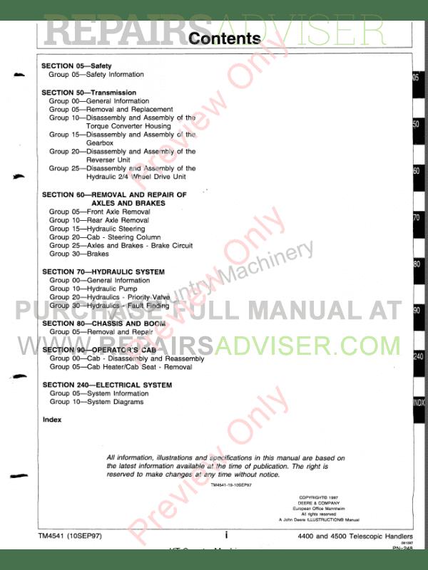 john deere 4400 service manual