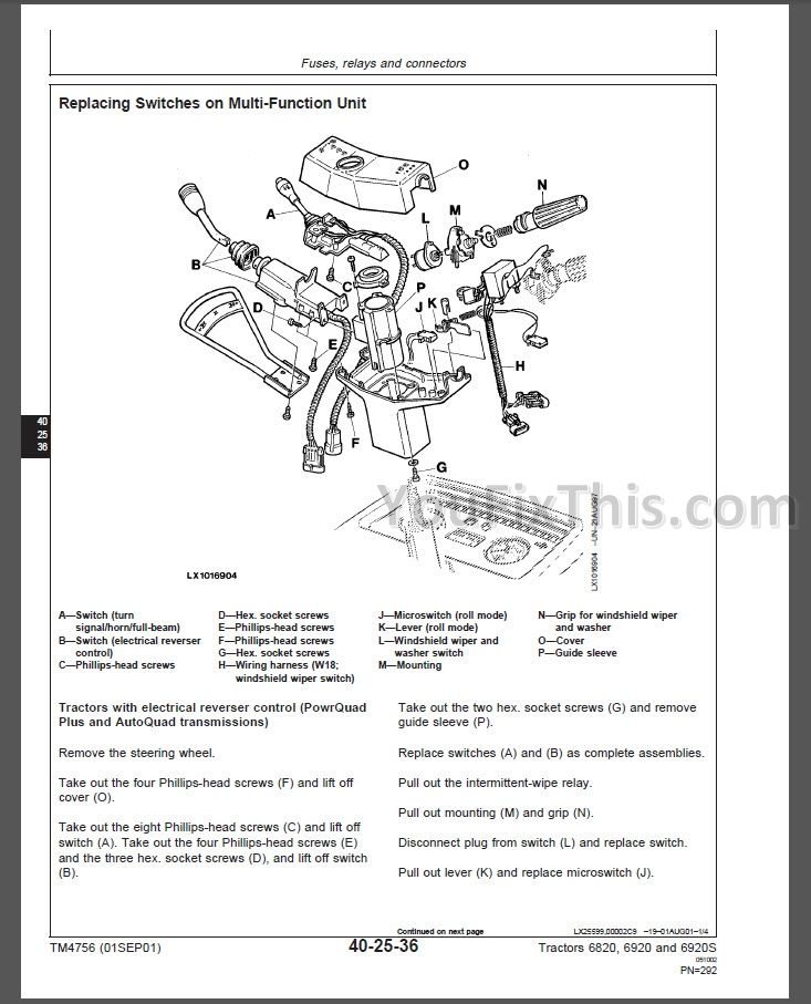 john deere 6820 workshop manual