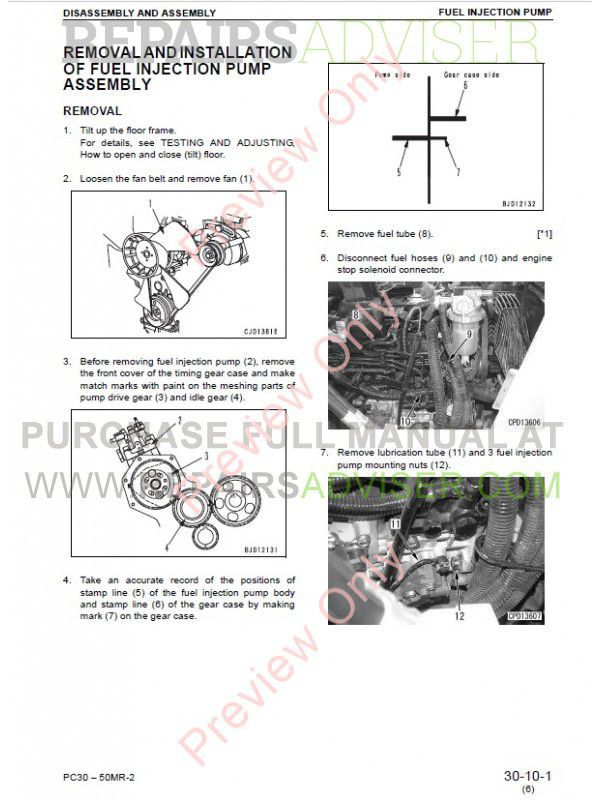 komatsu pc50mr 2 service manual