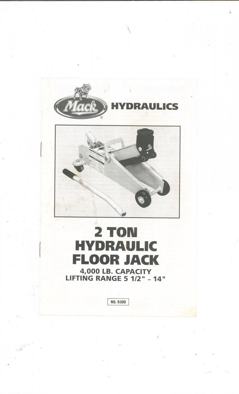 lincoln 2 ton floor jack manual