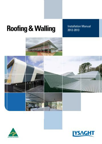 lysaght roofing and walling manual