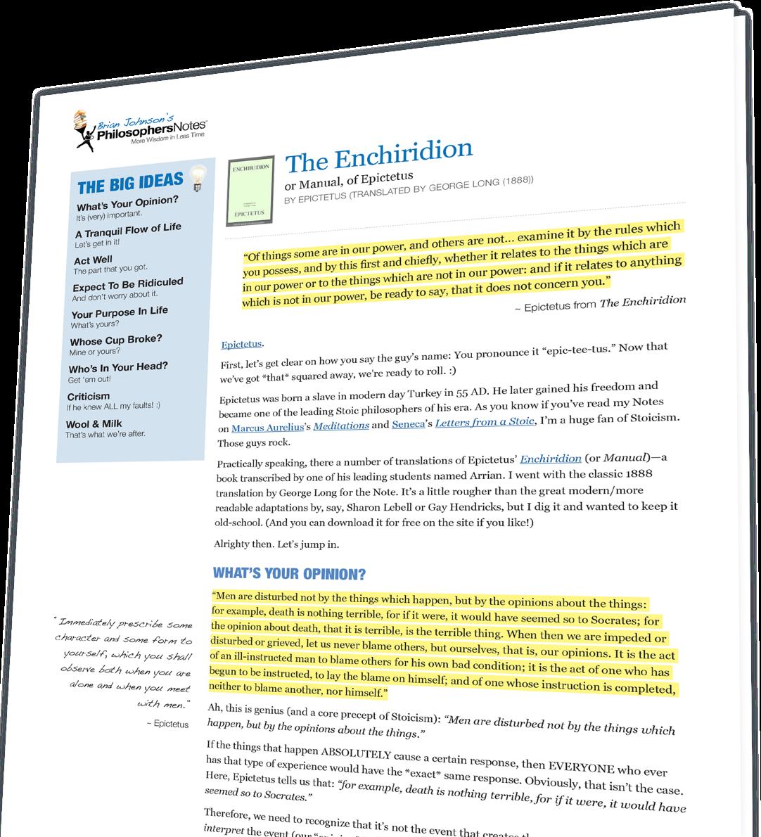 manual for living by epictetus pdf