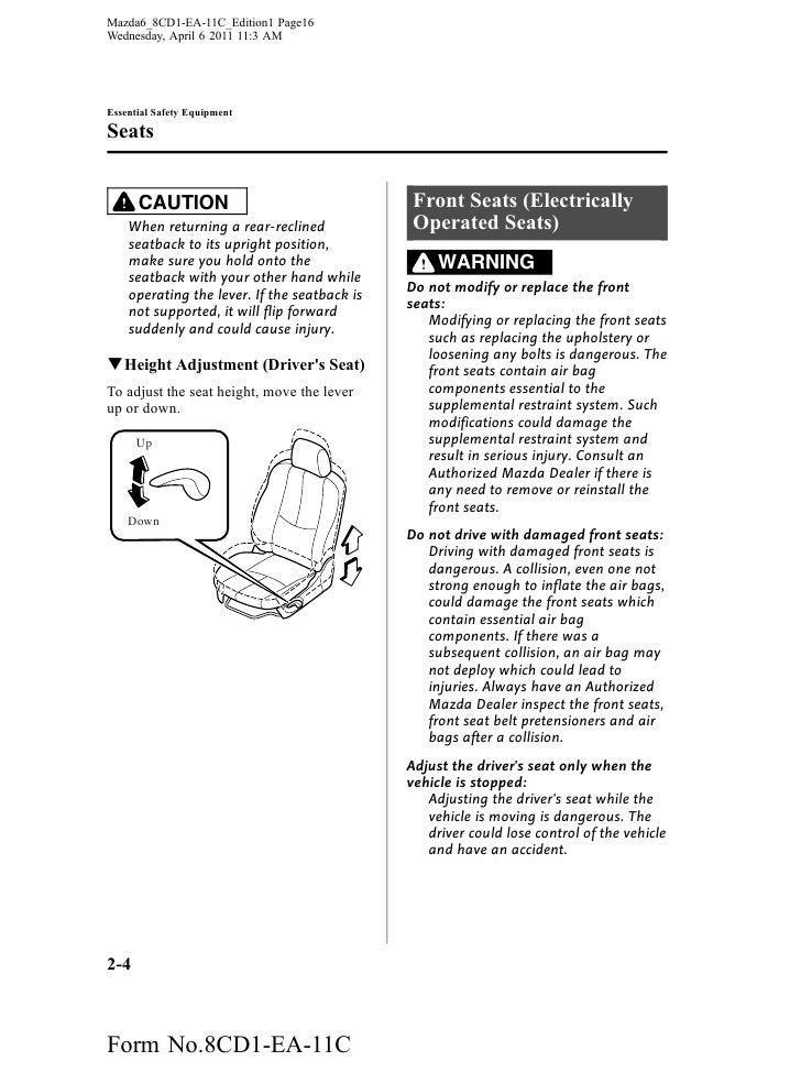 mazda 6 gg service manual