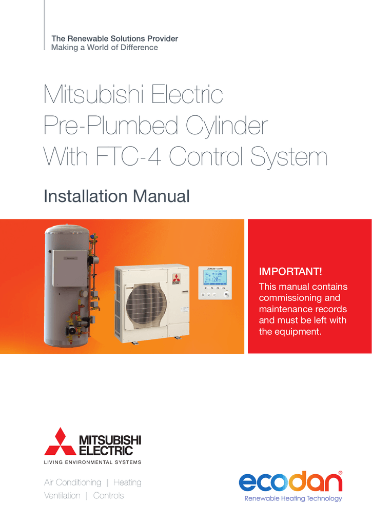 mitsubishi electric heat pump manual