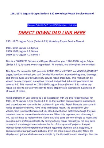 morris 8 series e workshop manual