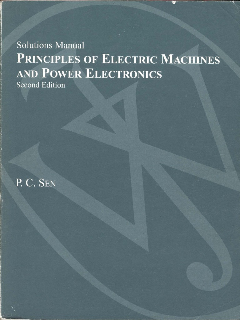ned mohan electric machines and drives solution manual pdf