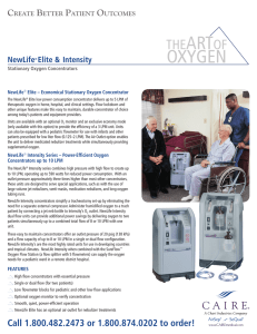 newlife intensity oxygen concentrator service manual