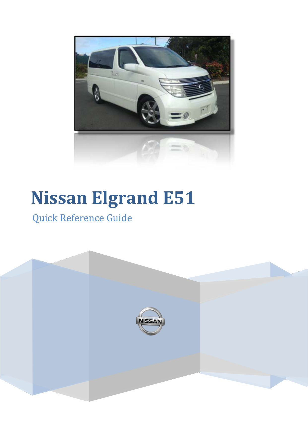 nissan elgrand e51 owners manual