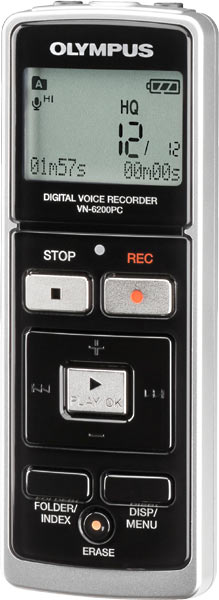 olympus digital voice recorder vn 6200pc manual
