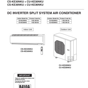 panasonic air conditioner installation manual