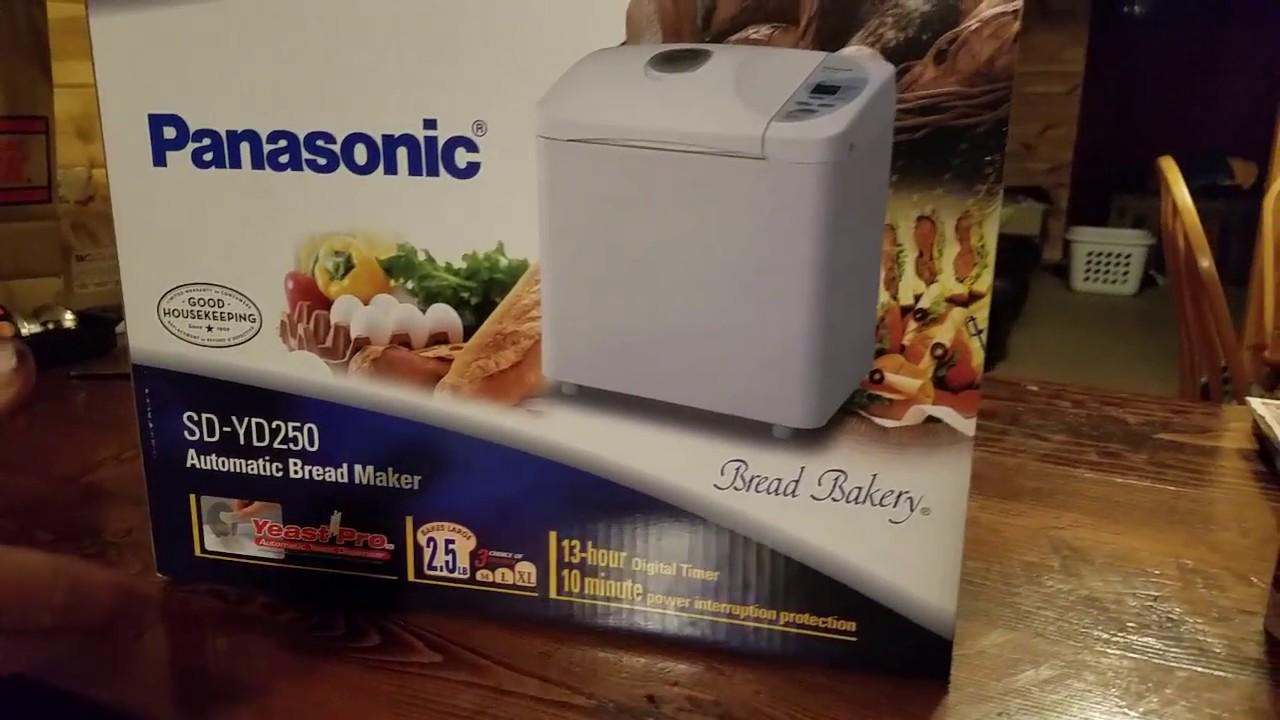 panasonic sd yd250 automatic bread maker manual