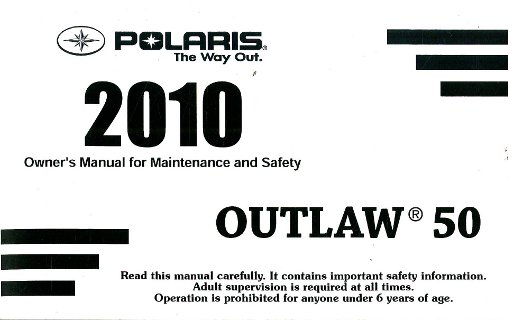 polaris outlaw 50 owners manual