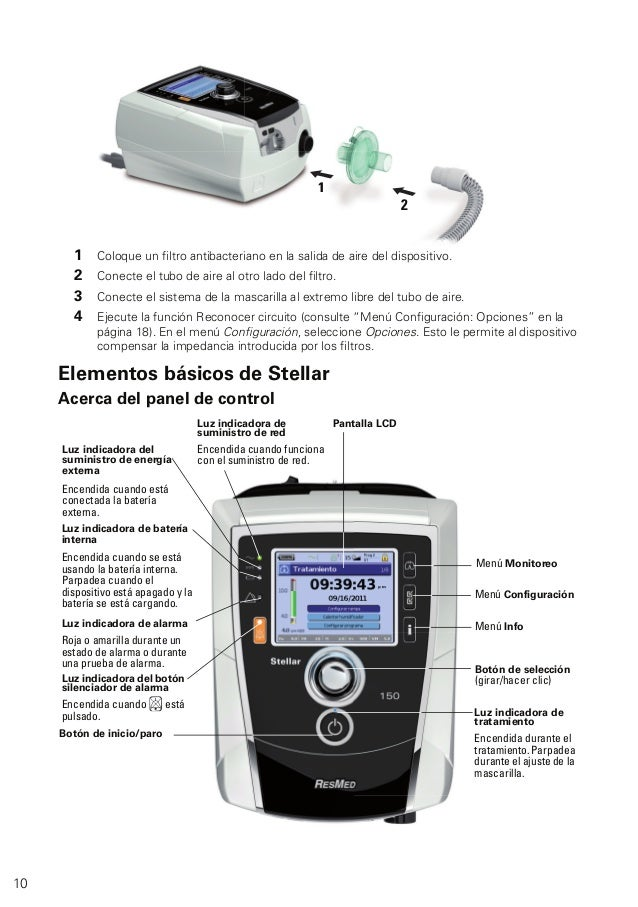 resmed stellar 150 user manual