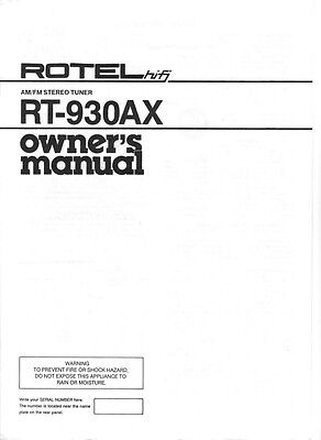 rotel rsx 1056 service manual