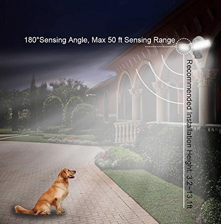 sansi led security motion sensor outdoor lights manual