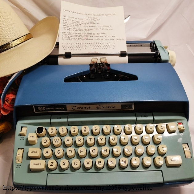 smith corona electric typewriter manual