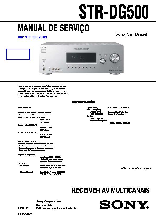 sony str dg500 manual pdf