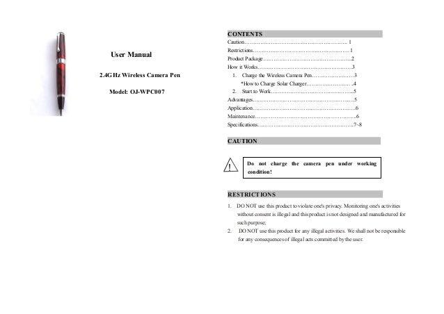 spy pen camera user manual