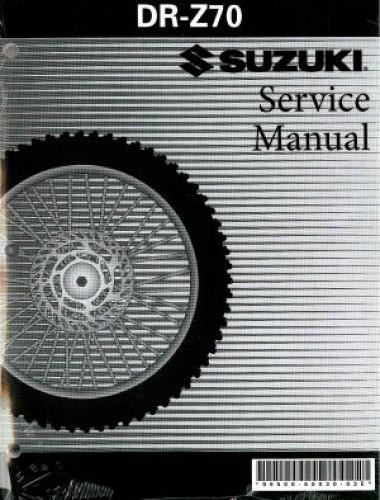 suzuki drz 70 service manual