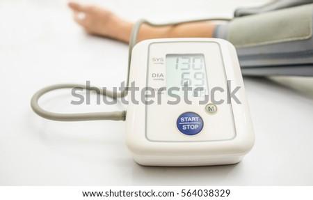 taking manual blood pressure sphygmomanometer